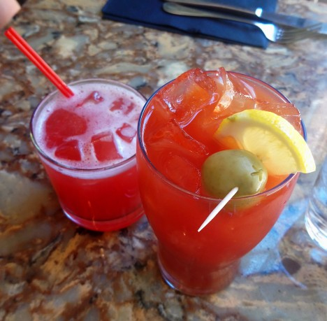 Tito's with watermelon juice / vegan bloody mary