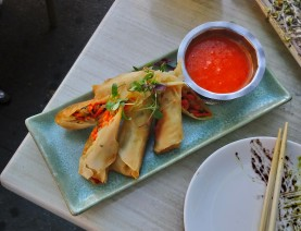 Pickled vegetable spring rolls